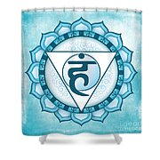 Throat Chakra Shower Curtain