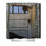 Through A Broken Window Shower Curtain
