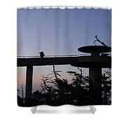 Through Hiker Shower Curtain