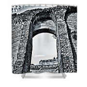 Through The Arch In A Sicily Ruin Shower Curtain