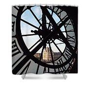 Through The Clock Shower Curtain