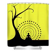 Through The Eye Of Buddhism Shower Curtain