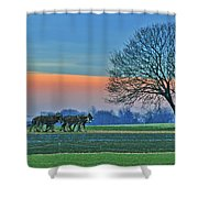 Through The Fields Shower Curtain by Scott Mahon