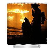 Through The Flames Shower Curtain by Benanne Stiens