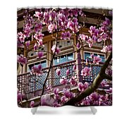 Through The Flowers Shower Curtain