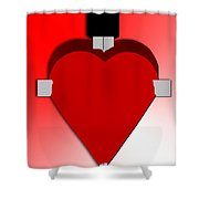 Through The Heart Shower Curtain