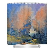 Through The Hole In The Trees Shower Curtain