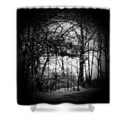 Through The Lens- Black And White Shower Curtain