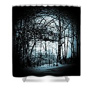 Through The Lens-blue Shower Curtain
