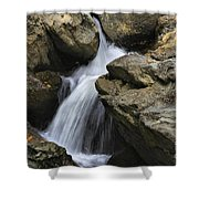 Through The Rocks Shower Curtain