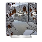 Through The Snow Trees Shower Curtain