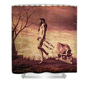Through The Valley  Shower Curtain by Bob Orsillo