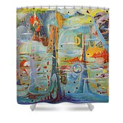 Through Time And Space Shower Curtain