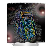 Tardis - Through Time And Space Shower Curtain