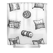 Throw Pillows Shower Curtain