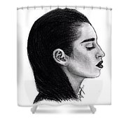 Lauren Jauregui Drawing By Sofia Furniel Shower Curtain
