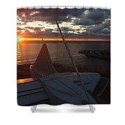 Sunrise @ Lake Shower Curtain