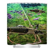 Thuds Over Vietnam Oil Shower Curtain