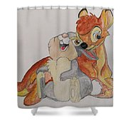 Thumper And Bambi Shower Curtain