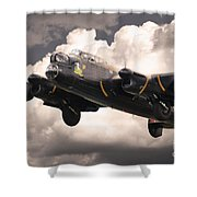 Thumper Gets Airborne Shower Curtain