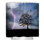 Thunder And Lightning Shower Curtain