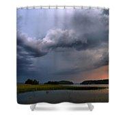 Thunder At Siuro Shower Curtain
