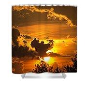 Thunder Mets Sunset Shower Curtain