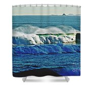 Thunder Of The Waves Shower Curtain