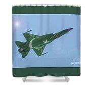 Thunder Over Arabian Sea Shower Curtain