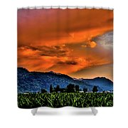 Thunder Storm In The Valley Shower Curtain