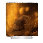 Thunder Storm Sunset #8324 Shower Curtain