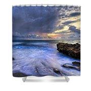 Thunder Tides Shower Curtain
