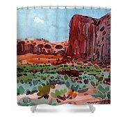 Thunderbird Butte Shower Curtain