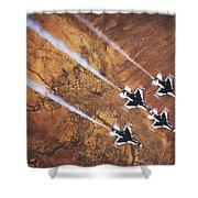 Thunderbirds In Diamond Roll Formation Shower Curtain