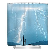 Thunderbolts From Heaven Shower Curtain