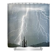 Thunderbolts From  The Heavens Above Shower Curtain