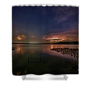Thunderclouds On Horizon Shower Curtain