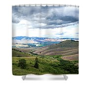 Thunderclouds Over The Hills Shower Curtain