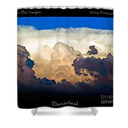 Thunderhead Cloud Color Poster Print Shower Curtain