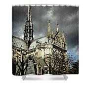 Thunderous Notre Dame Shower Curtain