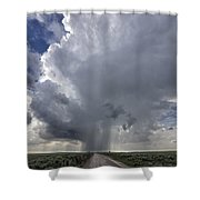 Thunderstorm And Road Shower Curtain