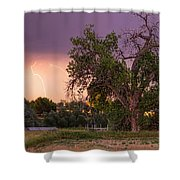 Thunderstorm In The Woods Shower Curtain