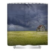 Thunderstorm On The Prairie Shower Curtain