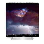 Lightning Thunderstorm Over Dacono Shower Curtain