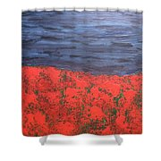 Thunderstorm Over The Poppy Field Shower Curtain