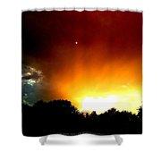 Thunderstorm Sunset Shower Curtain