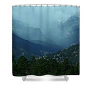 Thunderstorm Up Fall River Road Shower Curtain