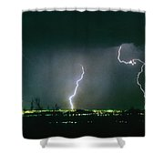 Thunderstorm View From North Scottsdale Arizona Shower Curtain