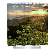 Thunderstruck Sunset Shower Curtain