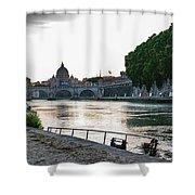 Tiber Walk Shower Curtain